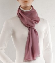 Pink wool and silk plain scarf