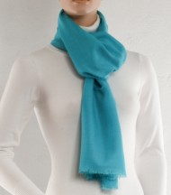 Parma wool and silk plain scarf