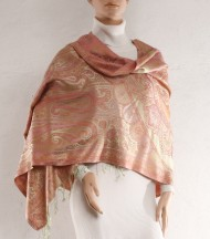 Gold plink silk shawl