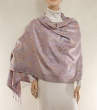 Color silk shawl