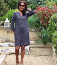 Linen dress anthracite