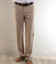 Beige linen men's pants