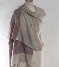 Cashmere shawl palla with blue border