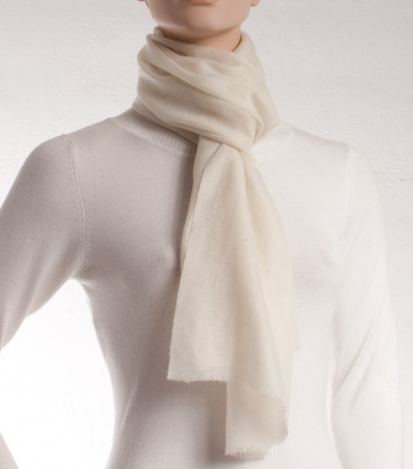 Pashmina scarf of white