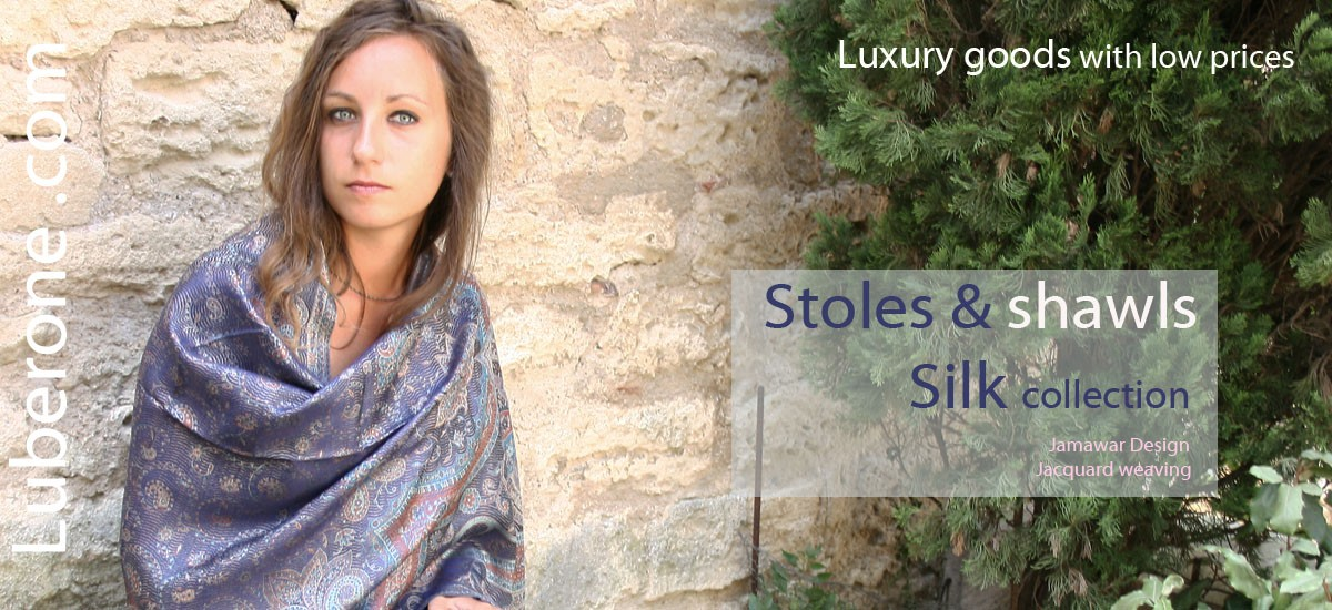 silk stoles and shawls